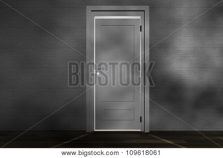 A closed door