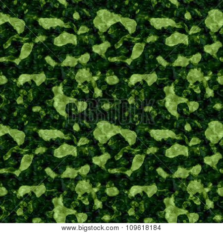 Dark Green Seamless Pattern With Light Green Stains