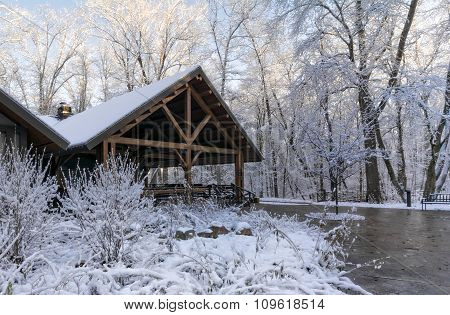 Snowy Winter Lodge
