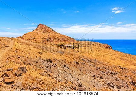 Madeira Mountain Landscape - Ranch In Desert With Palms