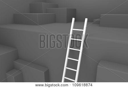 Ladder Leads Out Of A Pit