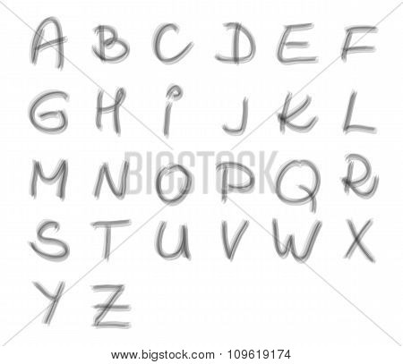 Handwritten Uppercase Alphabeth - Made By Transparent Brush