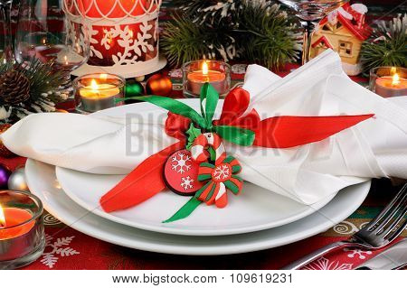 Fragment Serving Christmas Table