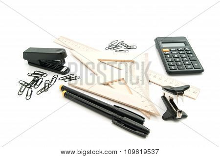 Stapler, Ruler And Other Office Stationery