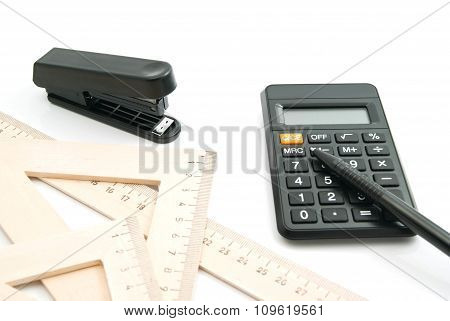 Stapler, Ruler And Other Stationery