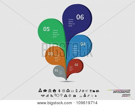 Vector template infographic for your business presentation, diagram and graph with text areas