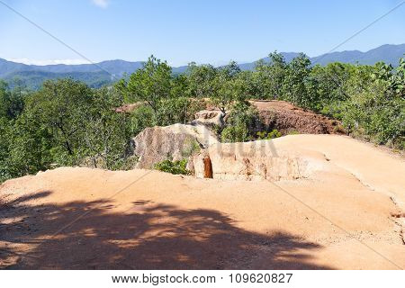 Canyon Hill In Rural Thailand