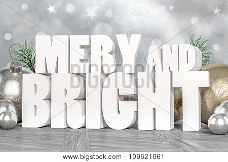 Mery And Bright 3D Text