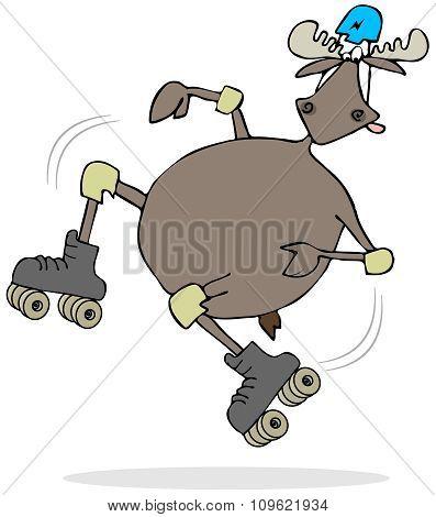 Moose on skates
