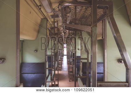 Cabin Of Thai Train , Vintage Style
