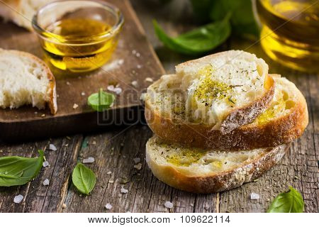 Italian Ciabatta  Bread With Olive Oil