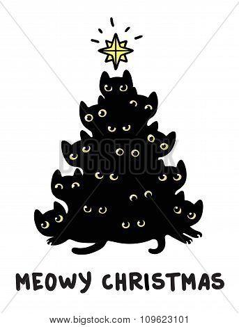 Cats Christmas Tree