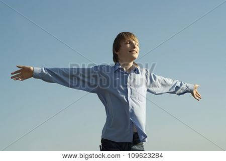 boy on the nature background