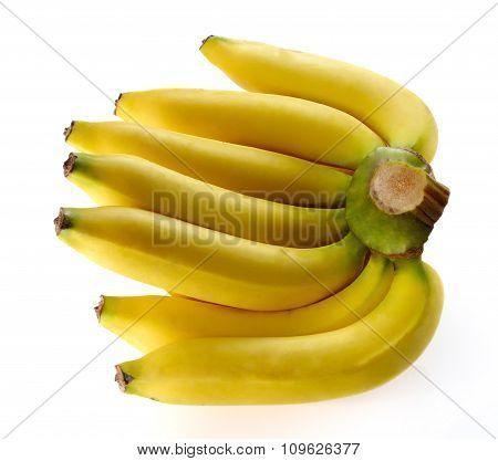 Large Banana On White Background.