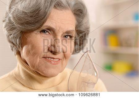 cute senior woman
