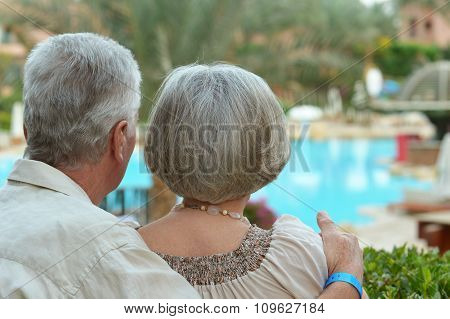 couple near pool