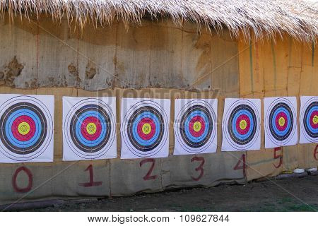 Row Of Target For Archery Game