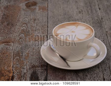 Hot Coffee,flower Latte Makeup.