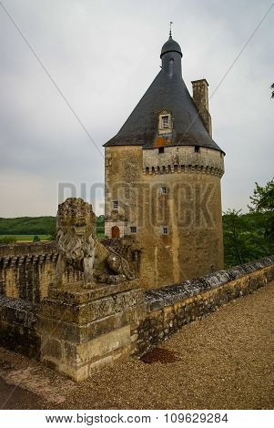 Landscape With A Medieval Castle At Touffou, France