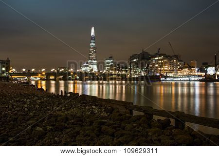 View from the River Thames to the Shard