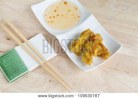 Deep Fried Dumpling Or Wonton With Pork Stuffed