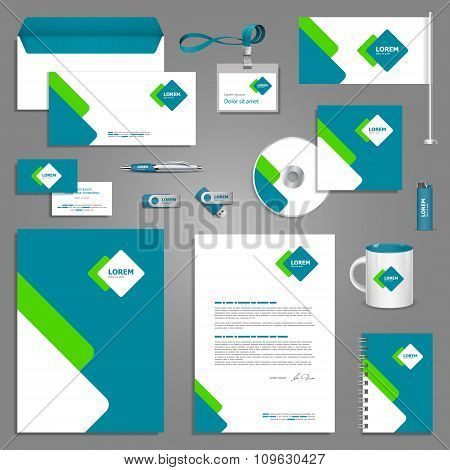 Template Design With Square Elements