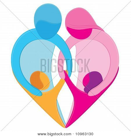 Family Love Heart Symbol