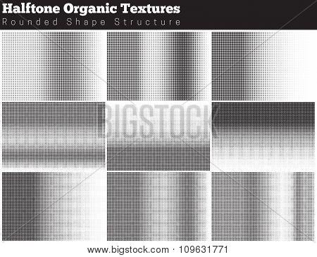 Set Of Halftone Overlay Textures
