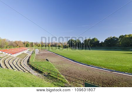 A View Of The Stadium In The Small Province Of Bulgaria