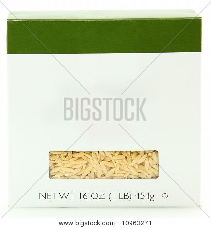 Blank Label 16Oz Box Of Orzo Noodles