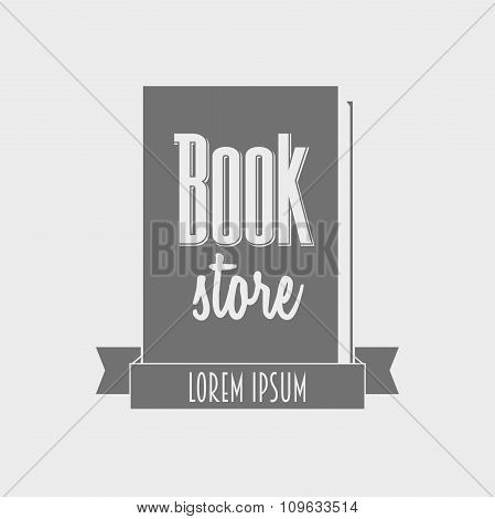Vector Concept Of Book Store Logo