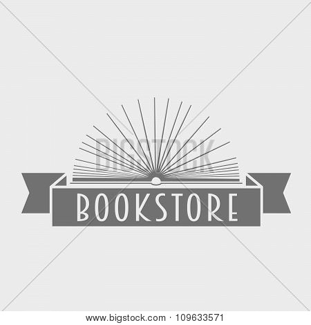Vector Book Store Logo Illustration. Icon Template For Education, Company Or Store.