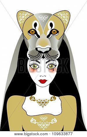 Tattoo Lion-woman