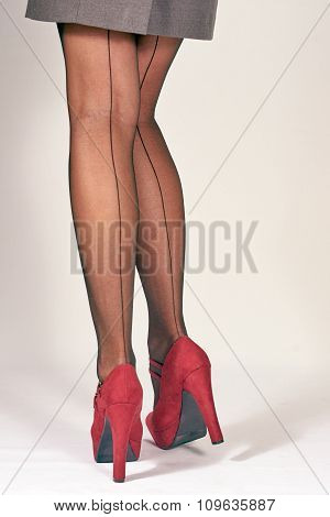slender woman legs