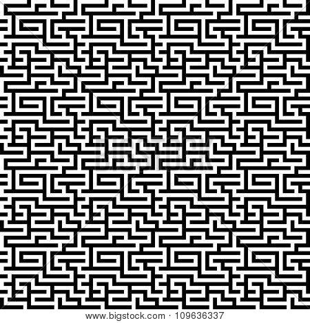 The maze, labyrinth pattern