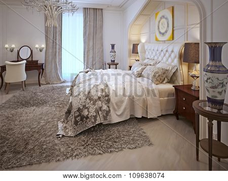 Bedroom Design In Arabic Style With Bright Colors.