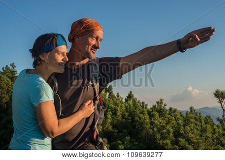 Happy Hiker's Couple