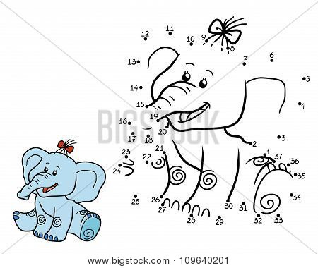 Numbers Game For Children: Elephant