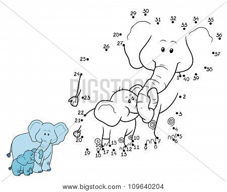 Numbers Game For Children: Elephants