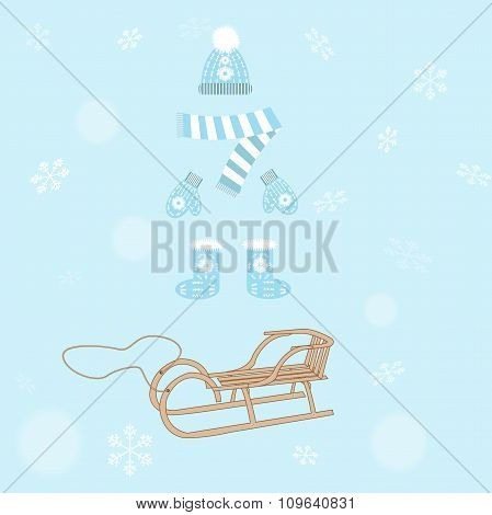 Winter Clothing And Sleds