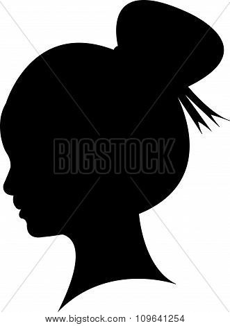 kid head silhouette vector