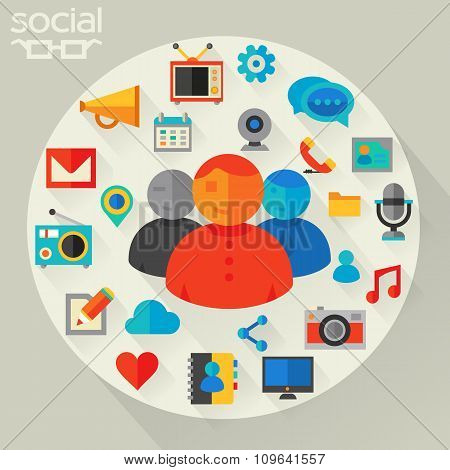 Vector illustration of social networking concept