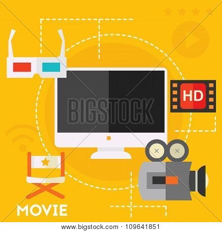 Video Production and Motion Graphic Concept
