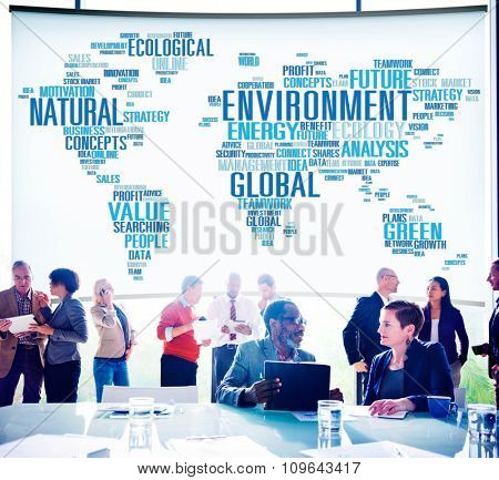 Environment Natural Sustainability Global World Map Concept
