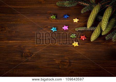 Christmas decoration - spruce branch