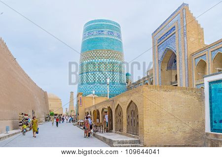 The blue minaret