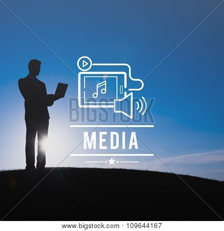 Media Social Networking Entertainment Multimedia Concept