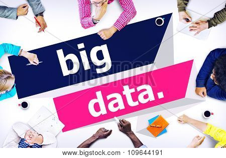 Big Data Network Connecting Storage Computing Internet Concept