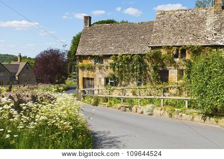Old traditional English cottage village