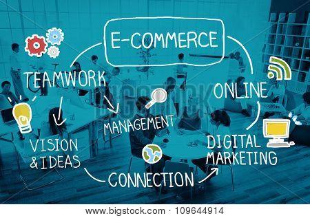 E-Commerce Ideas Analysis Communication Solution Social Concept